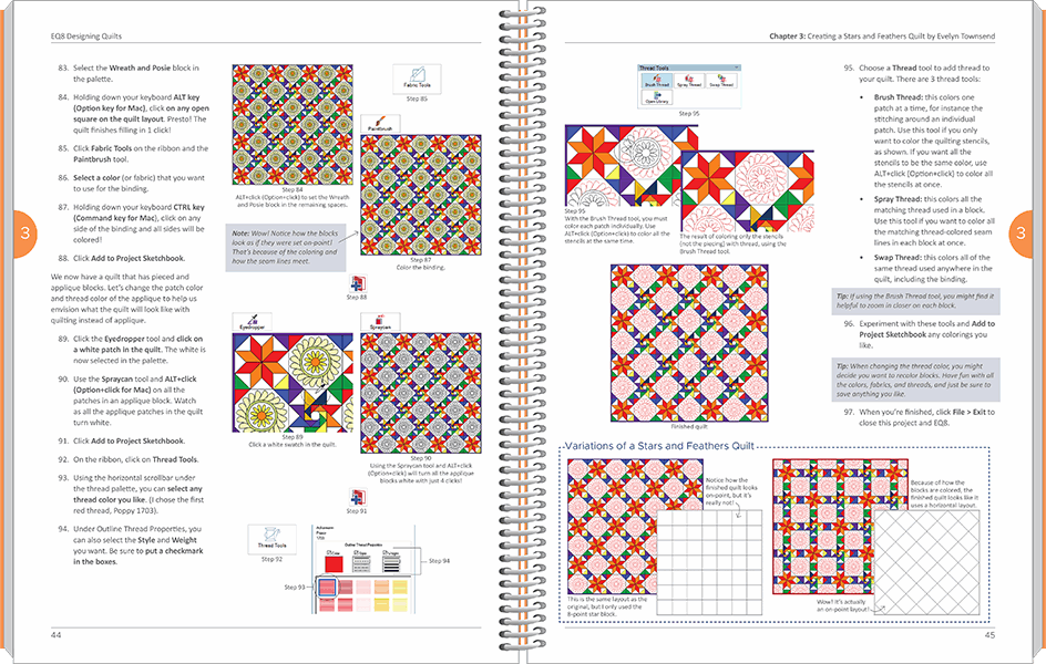EQ8 Designing Quilts inside spread